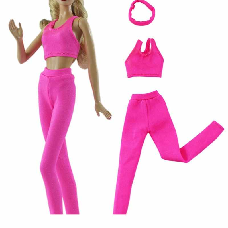 Handmade Outfit Daily Casual Wear Blouses Sport Pants Cute Tops Trousers Dress Clothes For Doll Accessories Kids Gift Toy
