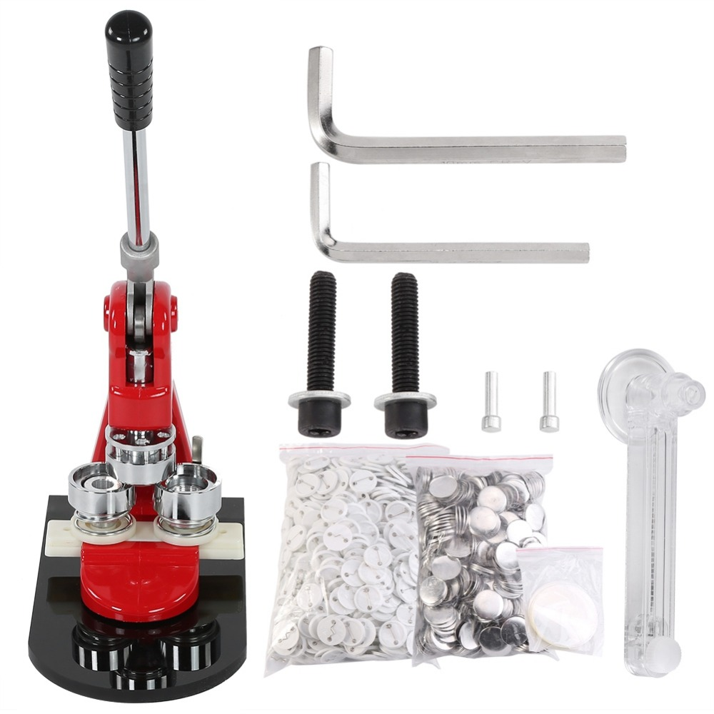 5.8cm / 2.28 Badge Punch Press Maker Machine With 1000 Circle Button Parts Circle Cutter Tool Reliable Performance 2.5cm / 0.98 3.2cm / 1.26