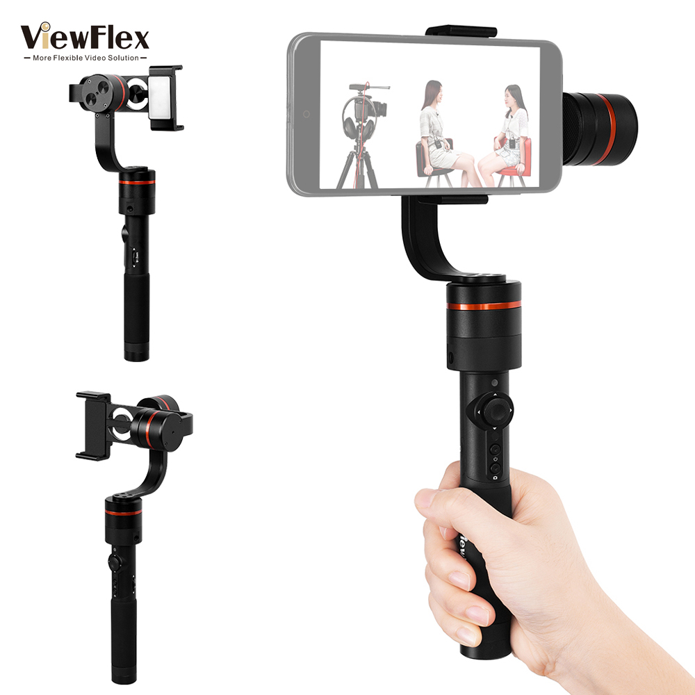 ViewFlex VF-S PRO 3-Axis Handheld Gimbal Stabilizer Time Lapse Object Tracking Auto Pano ...