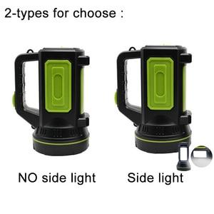 Image 3 - גבוהה כוח LED פנס USB נטענת פלאש אור לפידים מובנה סוללה צד אור לדיג חיצוני קמפינג Protable