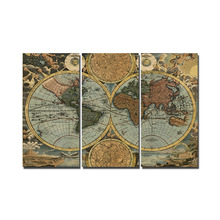Printed Vintage World Map
