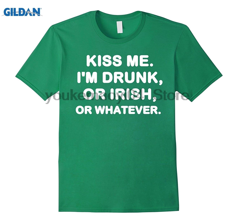 Возьмите Kiss Me Im пьян или ирландский или любой день Святого Патрика простой с принтом букв модные Футболка Топ