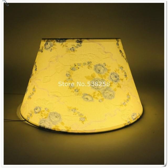 E27 moderna lámpara de sombra para habitación de bebé lámpara de mesa patrón de pvc tejidos decorativo rosa y azul lámpara