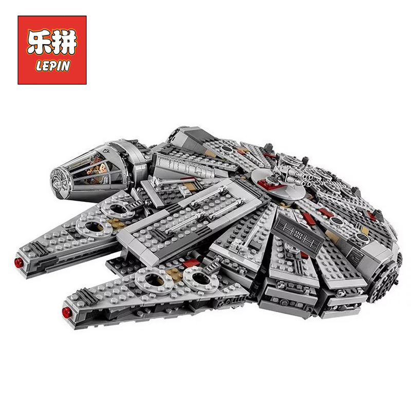 Building Blocks Bricks 10467 Stars Series War Lepin Toy Force Awakens Millennium Set Falcon Children Christmas Gift lepin 05007 elc 100 bricks toy wooden building blocks storage bag confirm to en 71 freeshipping