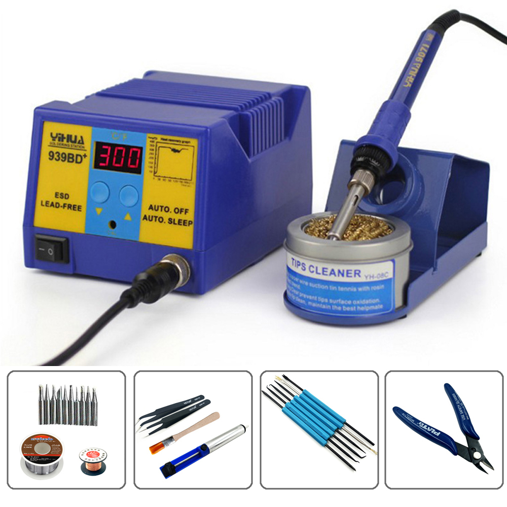 YIHUA939BD Anti Static Electric Welding Machine Constant Temperature Soldering Station Automatic Sleep Fuction Lead Free Solder