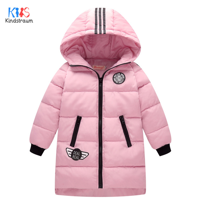 Kindstraum 2017 Children High Cotton Clothes Brand Girls Hooded Down Jackets Winter Super Warm Coats for Kids.RC1501 mmc brand children s winter thick warm brief style gradient splice high quality hooded down coats for girls 90