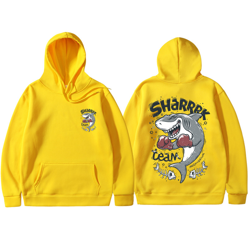 2019 Japan Harajuku Boxing Shark Men And Women Hoodie Fashion Pullover Sweatshirt Men And Women Hip Hop Street Erkek Sweatshirt