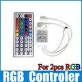 12 В 44key ик-пульт дистанционного контроллер 1 контроллер для 2 шт. smd 3528 5050 rgb светодиодные ленты света WLED01
