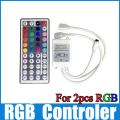 12v 44key ir remote controller 1 controller for 2 pcs smd 3528 5050 rgb led strip light WLED01