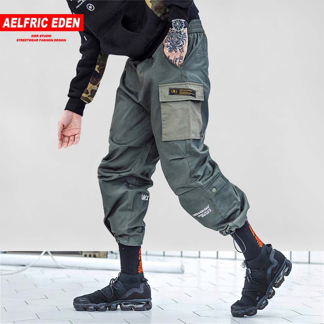 Aelfric Eden Patchwork Harem Joggers Skateboard Cargo Pants Mens 2018 Fashion Streetwear Hip Hop Casual Male Harem Pants Kj237 Promote The Production Of Body Fluid And Saliva