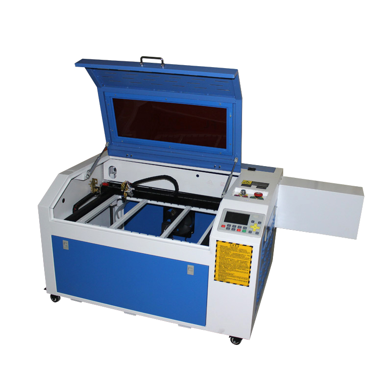 80W 6040 cnc laser cutting machine lateral square rail USB port Aluminum knife and honey comb 6040 cnc laser engraving and cutting machine
