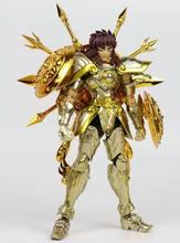 Em estoque chuanshen cs modelo libra dohko sog alma de deus ouro ex figura de ação armadura metal