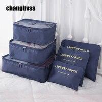 6 Pcs Set Women Travel Storage Bag Luggage Clothes Tidy Organizer Portable Pouch Suitcase Underwear Organizer