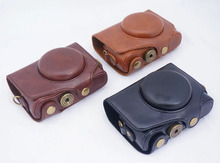 Camera Video Bag PU Case 1/4 Screw Mount For Canon PowerShot SX720 SX730 SX740 HS Digital Camera