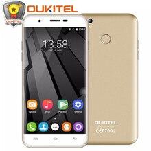 """Оригинальный Oukitel U7 плюс Мобильный телефон 5.5 """"Android 6.0 MTK6737 Quad Core 2 ГБ + 16 ГБ 8.0MP 2500 мАч отпечатков пальцев ID 4 г телефона"""