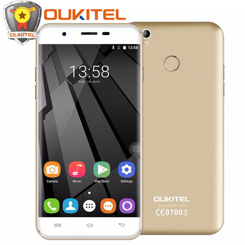 "bilder für Original Oukitel U7 Plus handy 5,5 ""Android 6.0 MTK6737 Quad Core 2 GB + 16 GB 8.0MP 2500 mah Fingerprint ID 4G Handy"