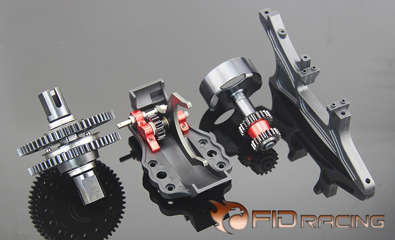 System FID A key to reverse gear system Reverse for losi 5ive T KM Rovan LT fid rear axle c block for losi 5ive t mini wrc