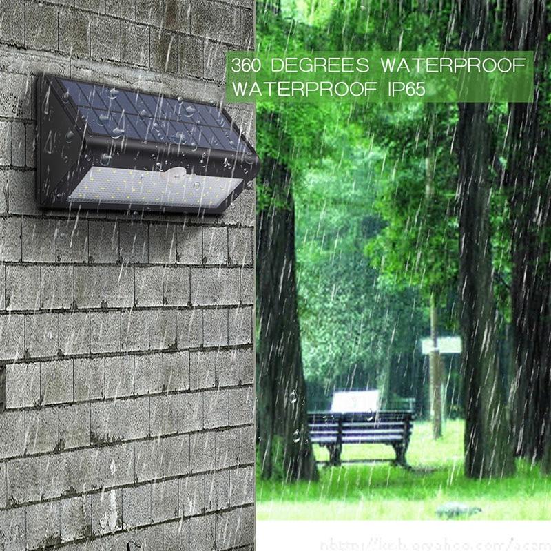 500LM 38LED Solar Panels PIR Motion Senser Lights Garden Solar Led Lamp Yard Paths Wall Outdoor Lighting Waterproof ALUVEE