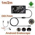 1 M/Anroid 2 M Mini USB Endoscópio Endoscópio Snake Camera 7 MM Lente À Prova D' Água ferramentas de Reparo Da Câmera Câmera Câmera USB OTG Android