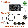 1M/2M Mini USB Anroid Endoscope Snake Camera 7MM Lens  Waterproof Borescope Camera Repair tools Camera OTG USB Android Camera