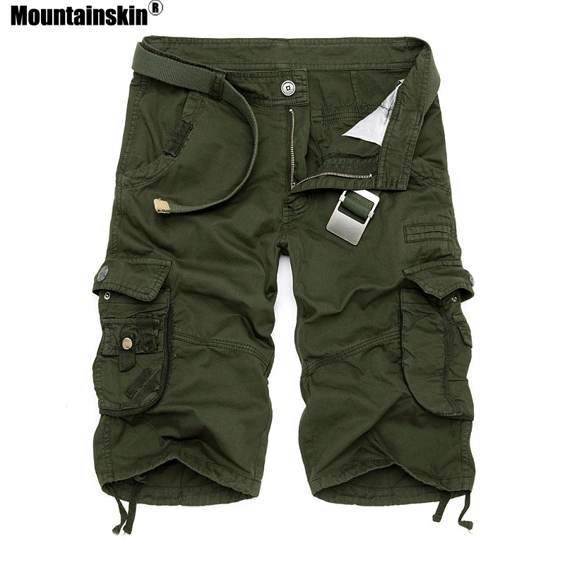 Mountainskin Summer Men's Camo Cargo   Shorts   Cotton Military Camouflage Male Jogger   Board     Shorts   Men Brand Clothing SA495