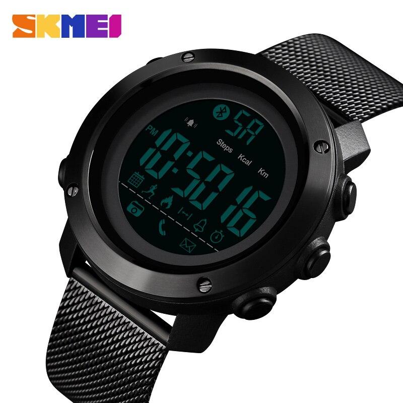 Brand SKMEI Watch Luxury Bluetooth Smart Watch Men Waterproof Calorie Running Wrist Watches Fashion G Style Shock Women's Watch-in Smart Wristbands from Consumer Electronics on AliExpress - 11.11_Double 11_Singles' Day 1