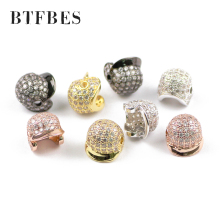 BTFBES 1pcs Baseball cap pendant accessory plating gold copper Loose beads For madam earrings Jewery bracelet making DIY Metal