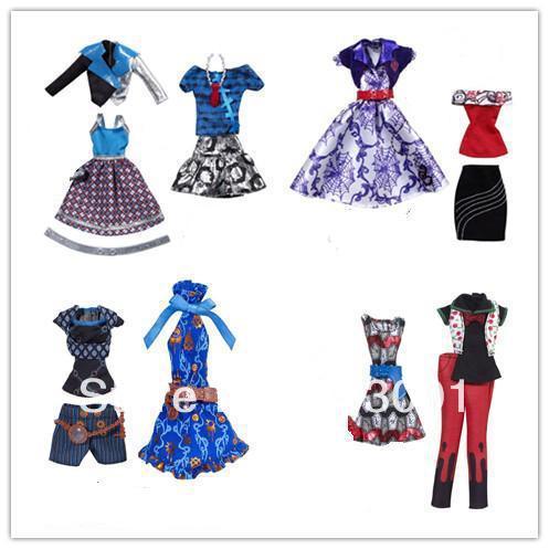 free shipping 5pcs/lot fashion monster high dolls' dress, good
