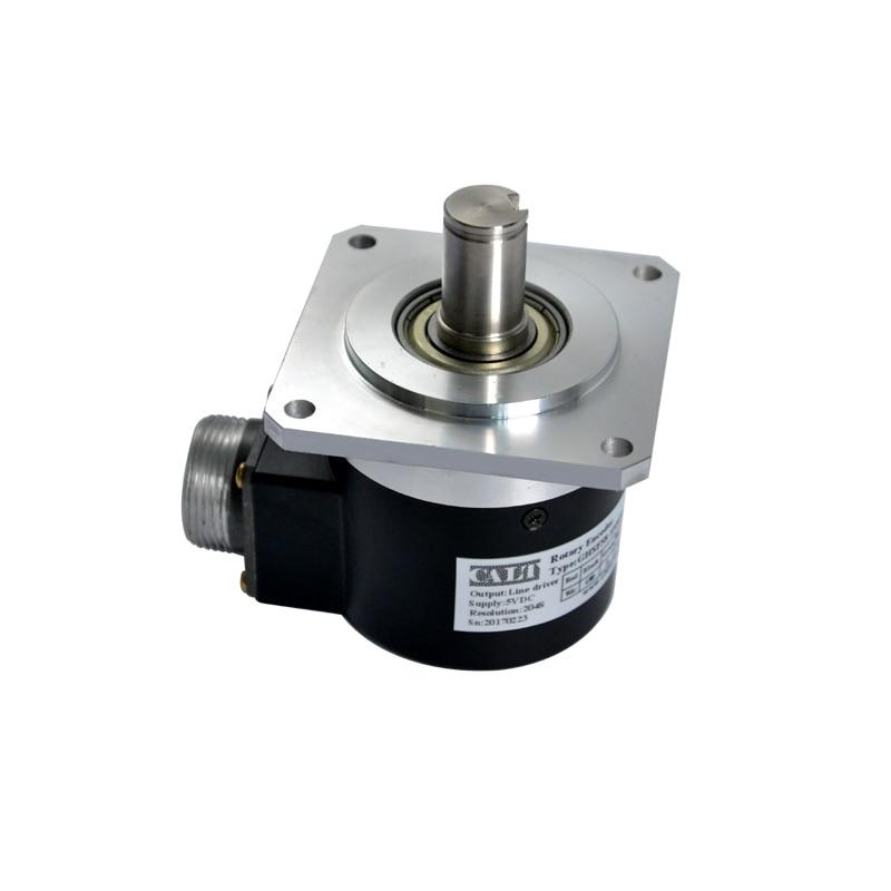 все цены на GHSF58 9mm Shaft Spindle Encoder Optical Rotary Position Encoder With Square Flange 10-5400ppr онлайн