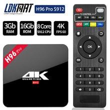 H96 PRO D'origine TV BOX Smart 4 K Ultra HD 3G 16G Android 6.0 Film WIFI Google Fonte Netflix Rouge Bull Media Lecteur Set-top Box
