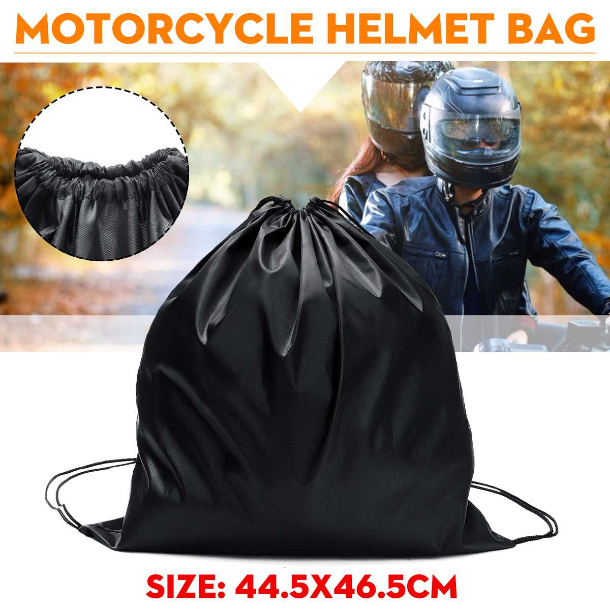 47x45cm Oxford Motorcycle Scooter Moped Helmet Protect Bag Storage Basketball Bag Carrying Pocket