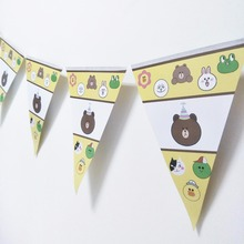 6pc/bag The birthday party decorations of the Banner Birthday Bear Theme Party Adornment Party Adornment Tool Festival the birthday party the birthday party hits