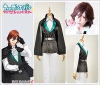 Uta no Prince Sama Shining Live Kotobuki Reiji Cosplay Costume Custom Stage Uniform Vest Jacket Vest Gloves Short Cloak Wig