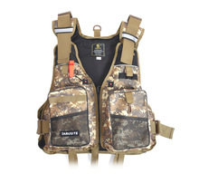 Adult Camouflage Foam Flotation Swimming Fishing Boating Life Jacket Vest With Whistle Outdoor Rescue Safety Life Jacket
