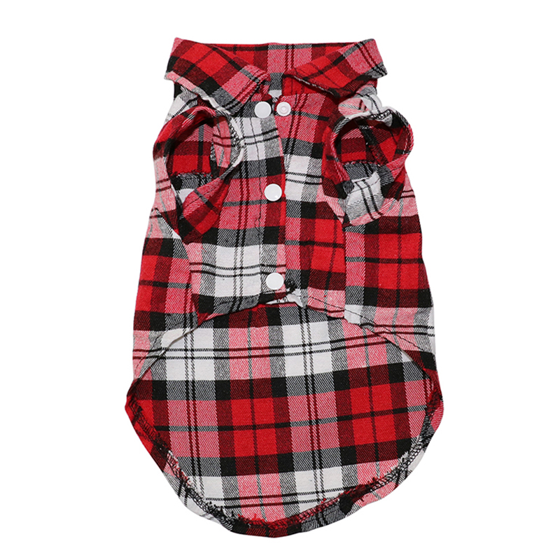 Pet Dog Clothes Soft Puppy Spring Summer Plaid Shirt ...