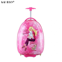 New Children's Hardside Luggage Cartoon Suitcase Boy Cabin Rolling Luggage Student travel trolley luggage for kids Wheeled Bag
