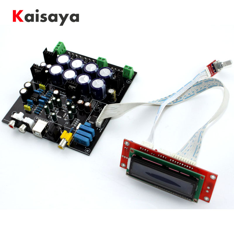without USB daughter card AK4490 AK4118 op amp NE5532 decodificador Soft control DAC audio decoder board