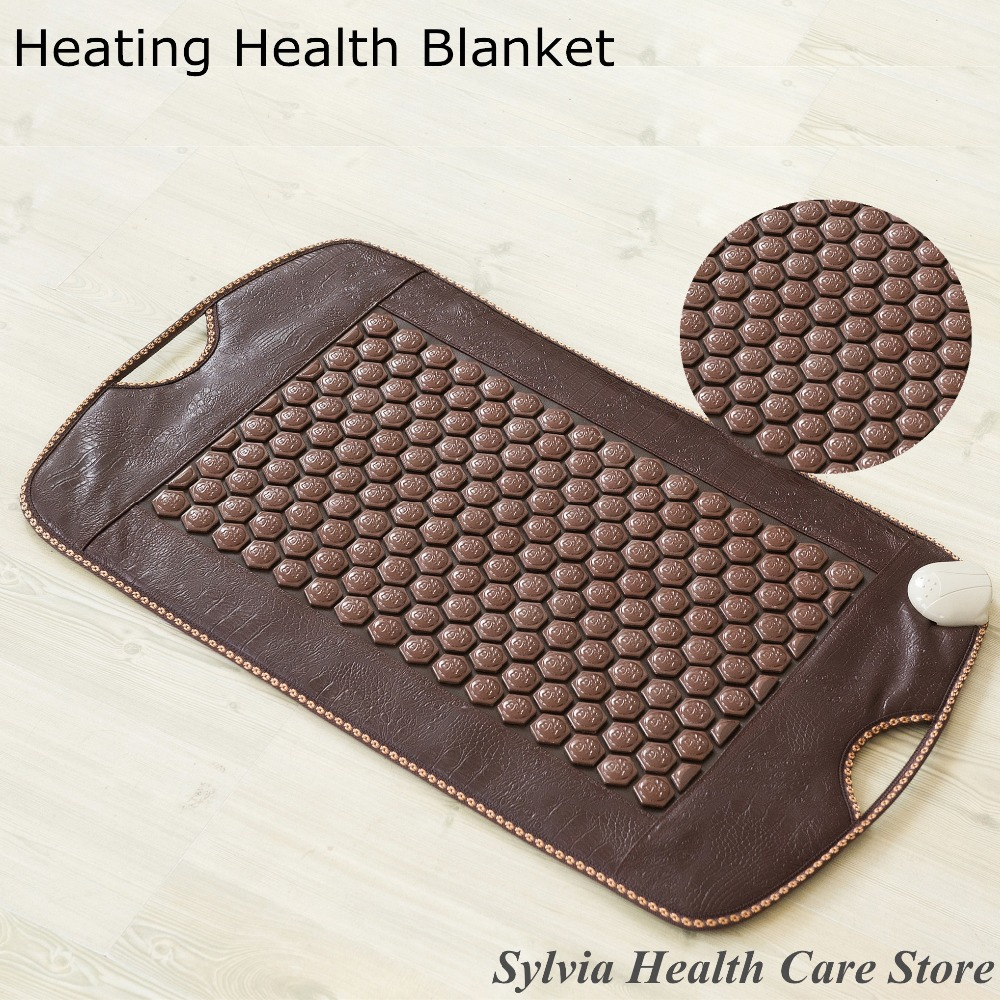 2017 Korea heating Natural Tourmaline Cushion Germanium Stone Heated yoga Mat Jade Health Care Physical Therapy Mattress best selling korea natural jade heated cushion tourmaline health care germanium electric heating cushion physical therapy mat page 9