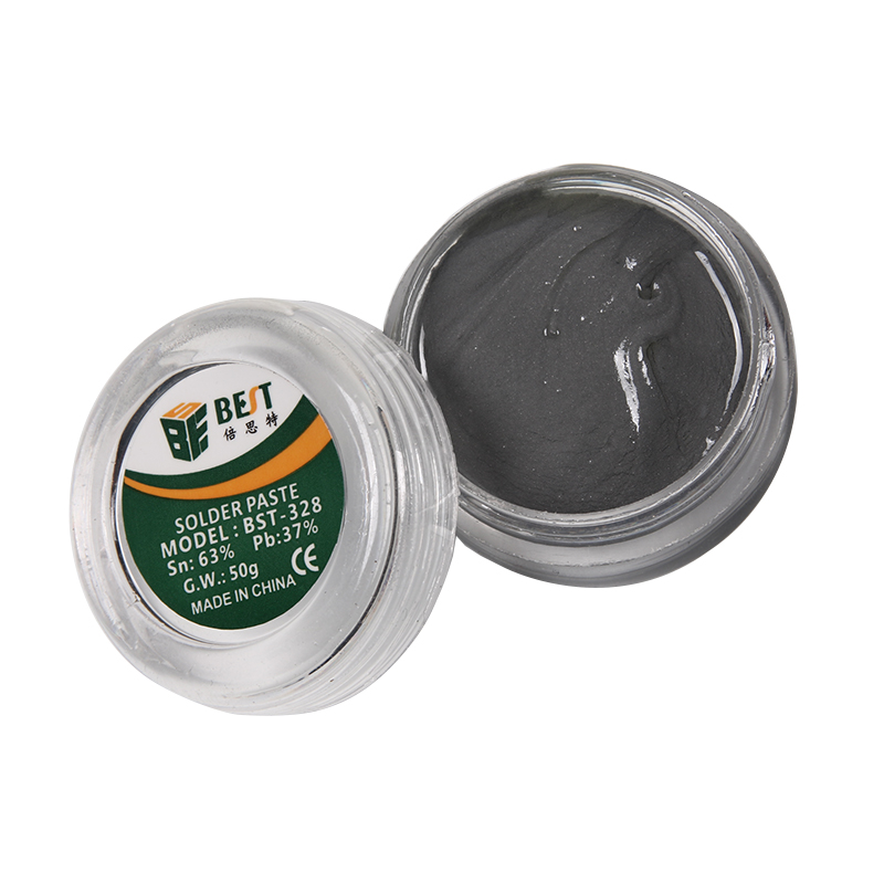 Solder Paste BST 328 50g Strong Lead containing Silver Soldering Flux PCB BGA SMD Mobile font