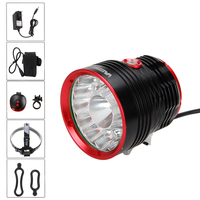 Waterproof Bike Lamp Torch 30000lm 14*T6 LED Front Bicycle Light Headlight+Rear Light+18650 Battery Pack Set