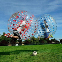 Inflatable balls Free Shipping 1.0mm TPU Inflatable Zorb Ball 1.5m Bubble Soccer Ball Air Bumper Ball Bubble Football For Adults