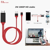 FANGTUOSI 1080P HDMI Audio Adapter Smart Converter Cable For IPhone 7 6S 8 X PLAY Cable