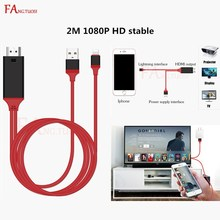 FANGTUOSI 1080P HDMI Audio Adapter Smart Converter Cable for iPhone 7 6S 8 X PLAY Cable For Lightning to HDMI Adapter USB Cable