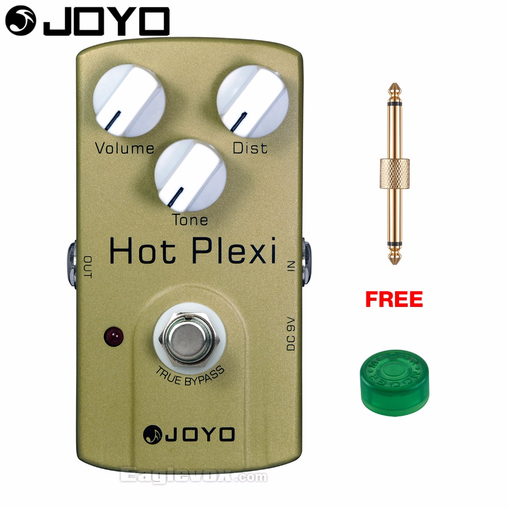 JOYO JF-32 Hot Plexi Electric Guitar Effect Pedal True Bypass with Free Connector and Footswitch Topper mooer hustle drive distortion guitar effect pedal micro pedal true bypass effects with free connector and footswitch topper