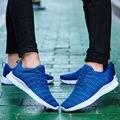 Outdoor 2017 Women Board shoes couple Casual Walking shoes Net cloth walk size 35-48 zapatillas deportivas mujer Red blue black