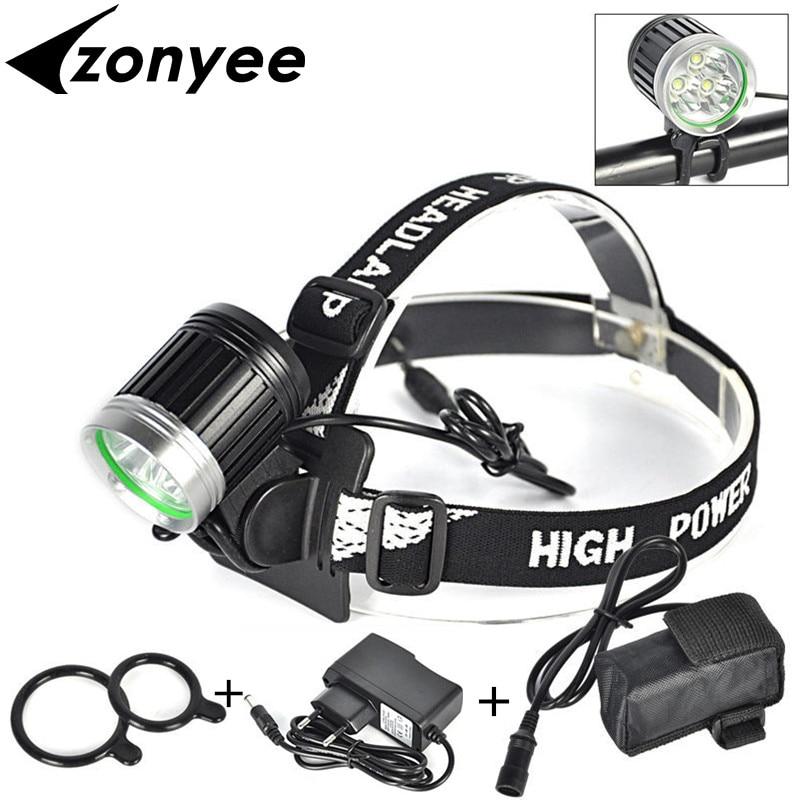 Zonyee XM-L 3x L2 / T6 faro bicicleta luz 8000 lumen LED bicicleta - Iluminación portatil