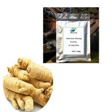 цена на Hot sale American ginseng root extract ginsenoside  extract powder American Ginseng Extract Good quality, free shipping