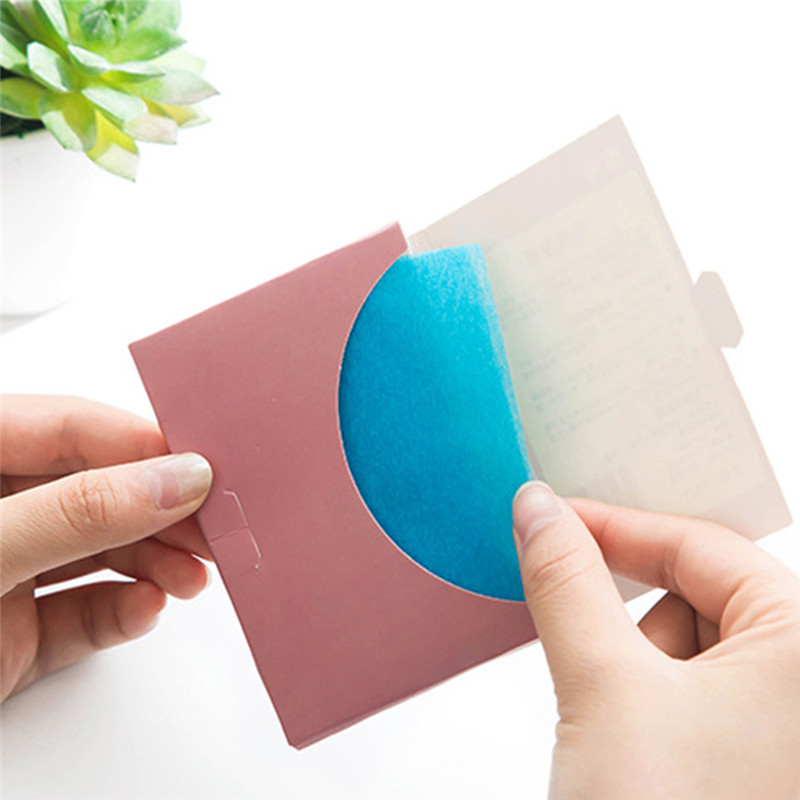 50 Pcs/ Bag Oil Control Absorption Film Face Clean Blotting Paper Oil Removal Paper Absorbing Facial Oil Remover