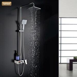 Image 1 - XOXO ducha de lujo con pantalla inteligente digital dinámica de agua, grifo de ducha con led, juego de grifería Mezclador de Baño, 88010