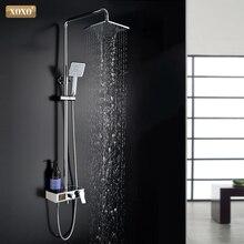 XOXO 럭셔리 샤워 물 동적 디지털 지능형 디스플레이 및 샤워 꼭지 led 샤워 꼭지 세트 욕실 믹서 88010